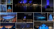 liub waad collage of world landmarks
